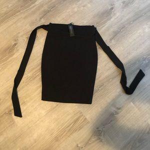 Crepe Tie Bandage Mini Skirt